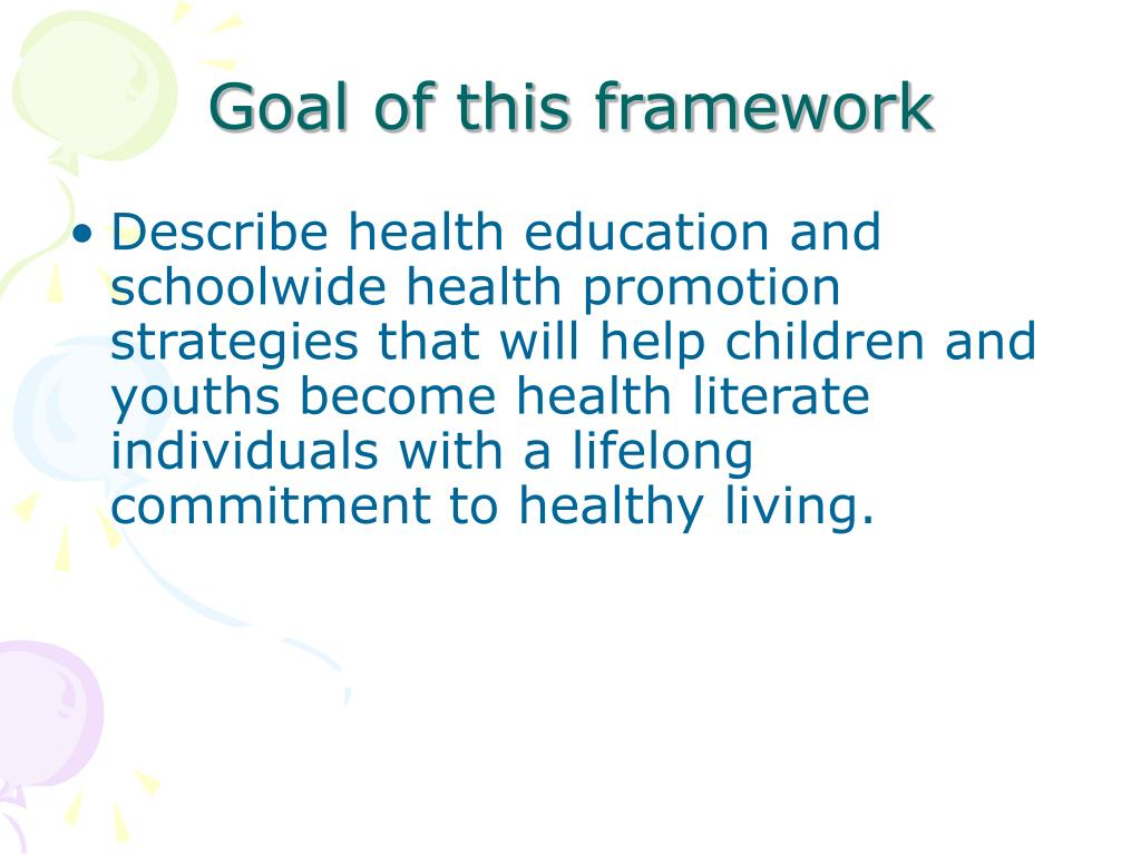 Describe health education and schoolwide health promotion strategies that will help children and youths become health literate individuals with a lifelong commitment to healthy living.