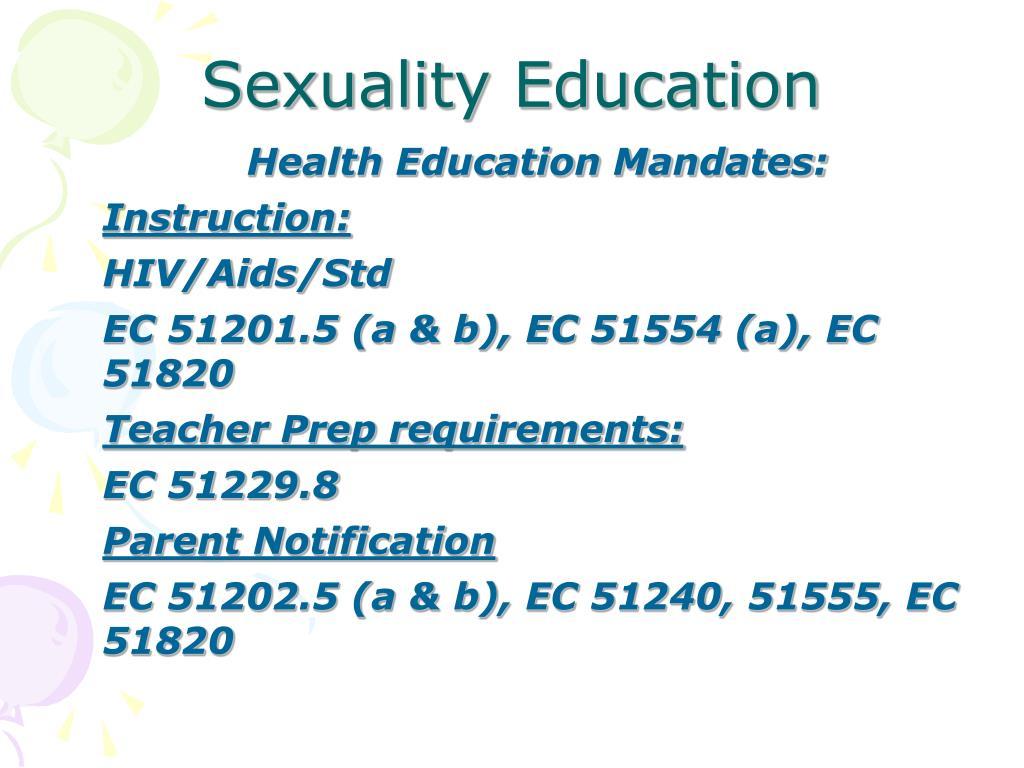 Health Education Mandates: