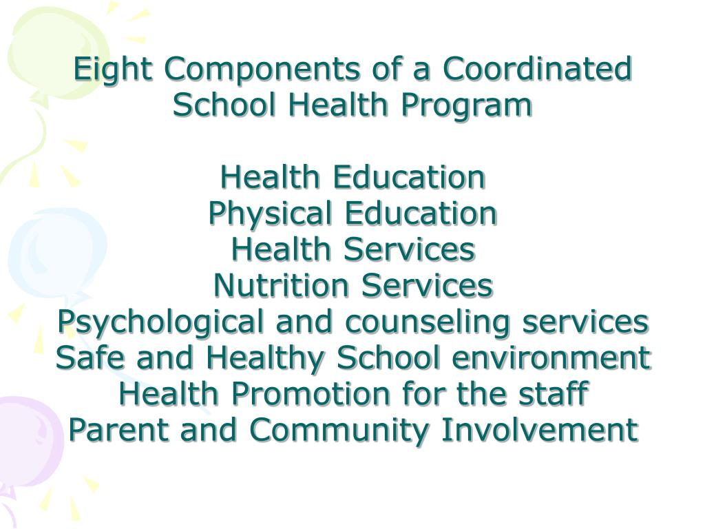 Eight Components of a Coordinated School Health Program