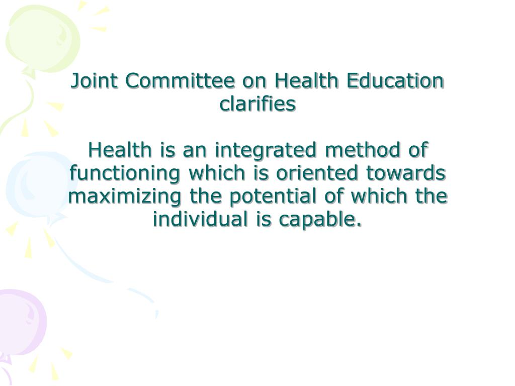 Joint Committee on Health Education clarifies