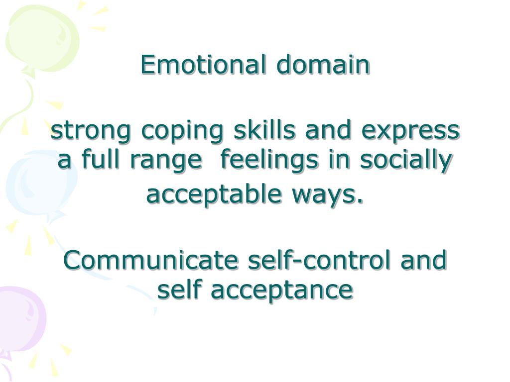 Emotional domain