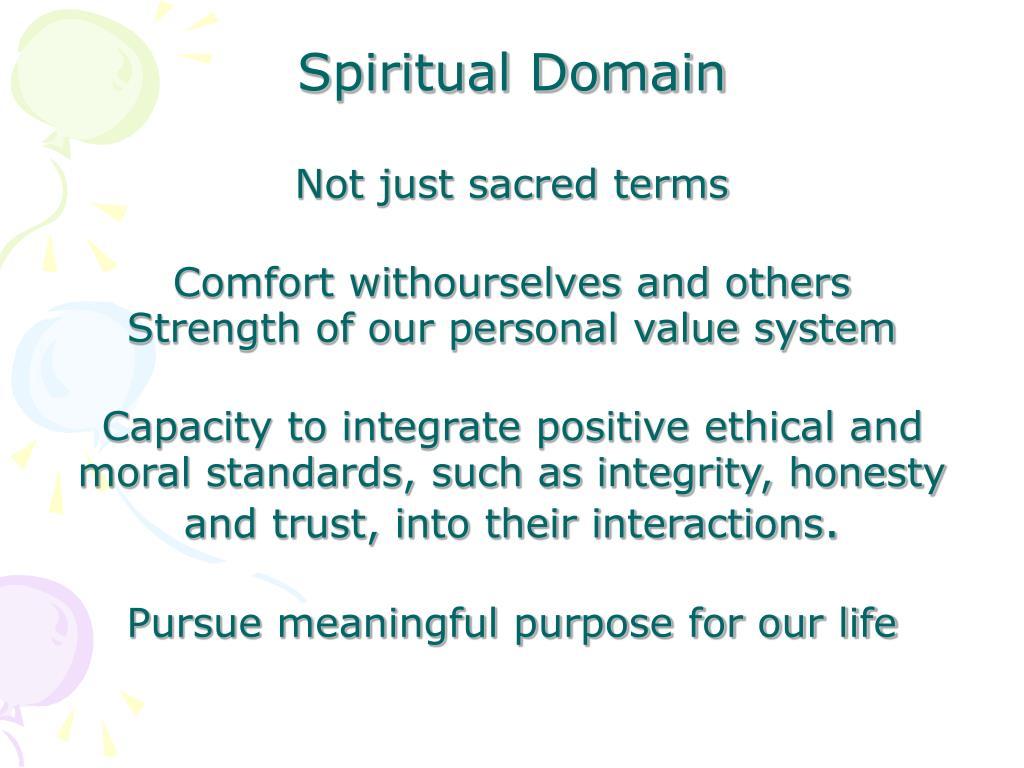 Spiritual Domain