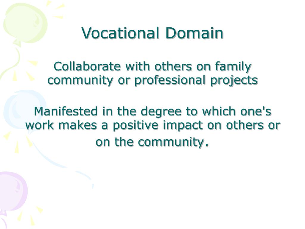 Vocational Domain