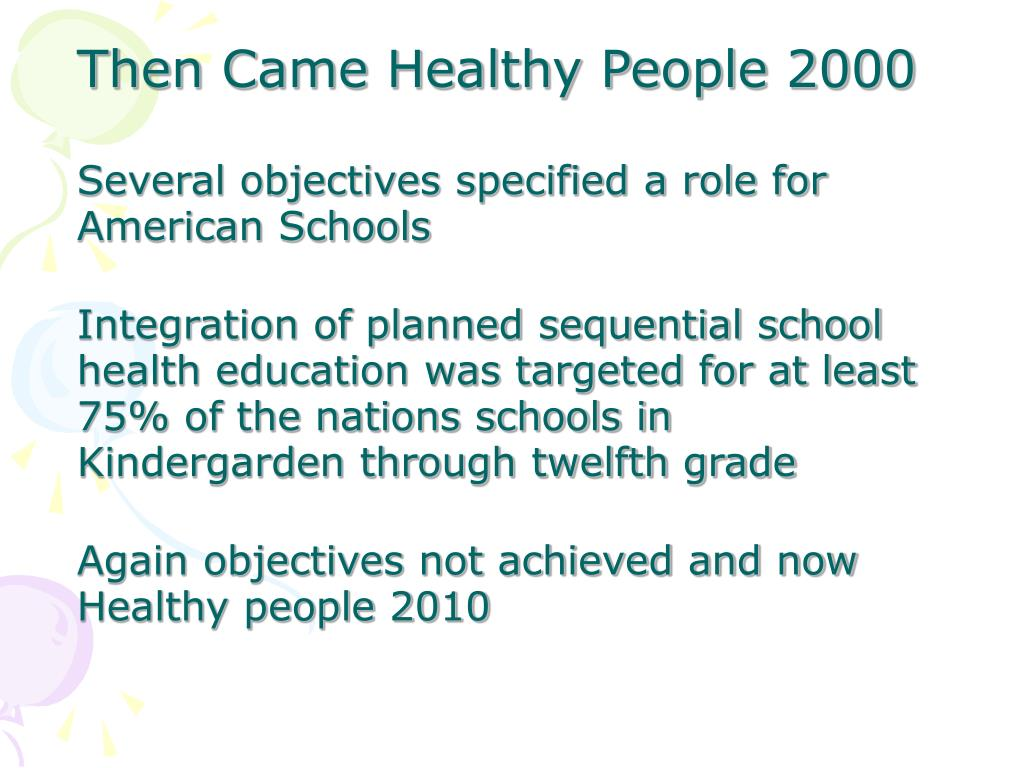 Then Came Healthy People 2000