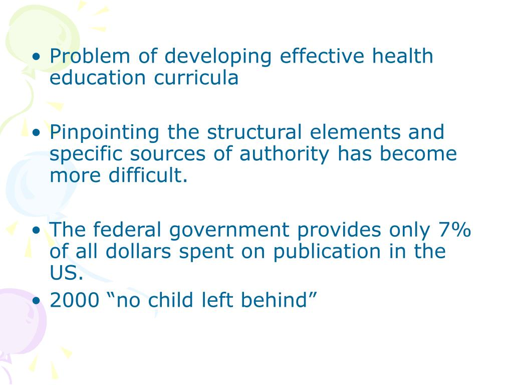 Problem of developing effective health education curricula