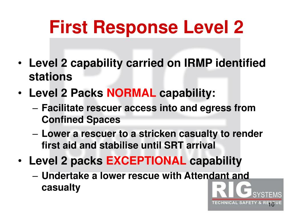 First Response Level 2