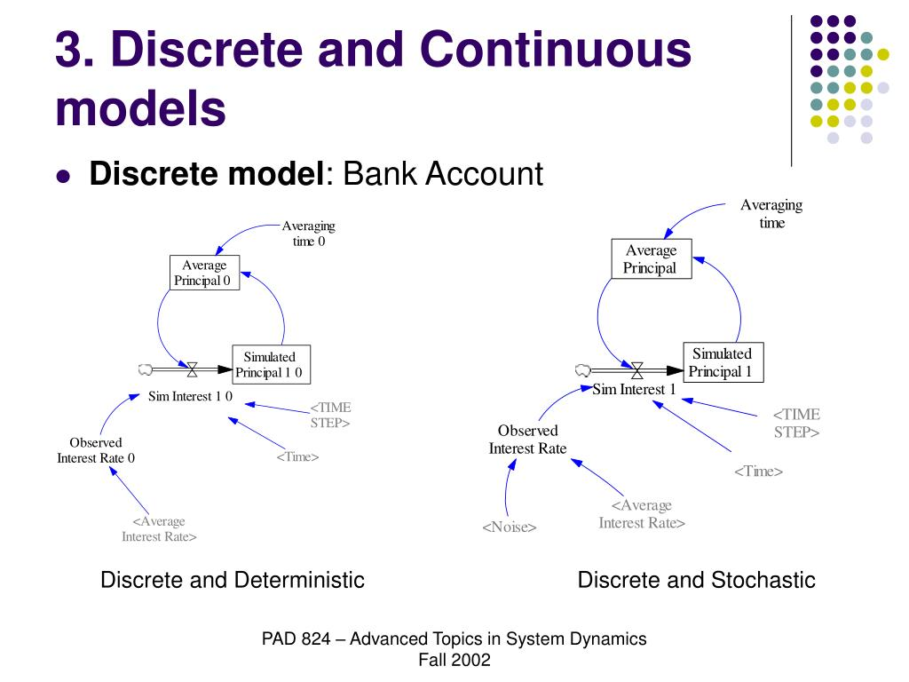 3. Discrete and Continuous models