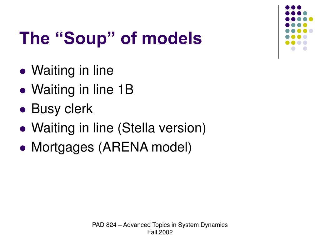 """The """"Soup"""" of models"""