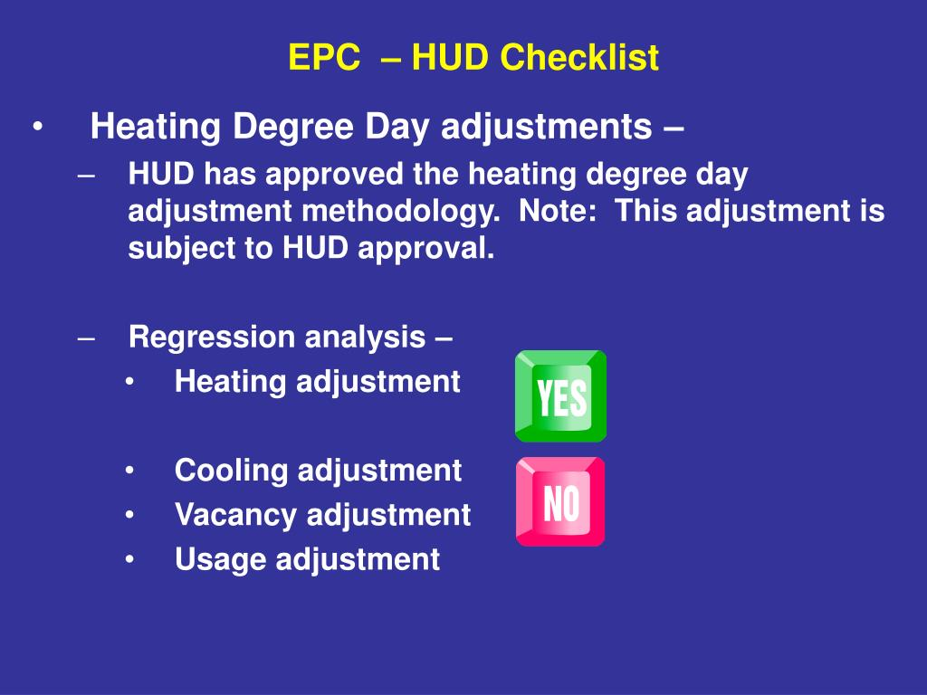 Heating Degree Day adjustments –