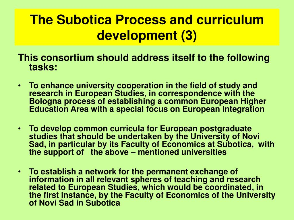 The Subotica Process and curriculum development (3)