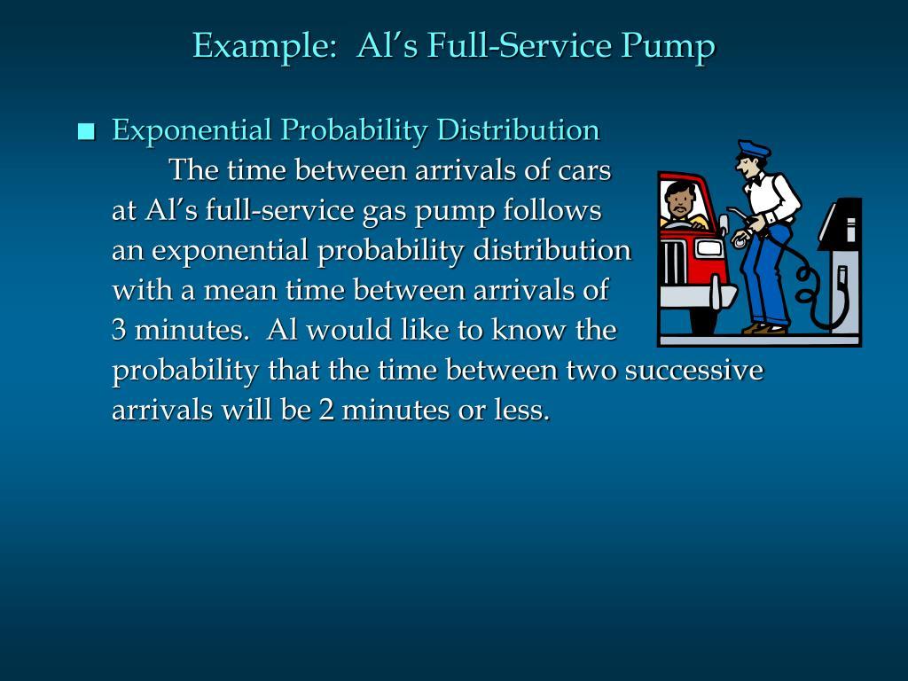 Example:  Al's Full-Service Pump