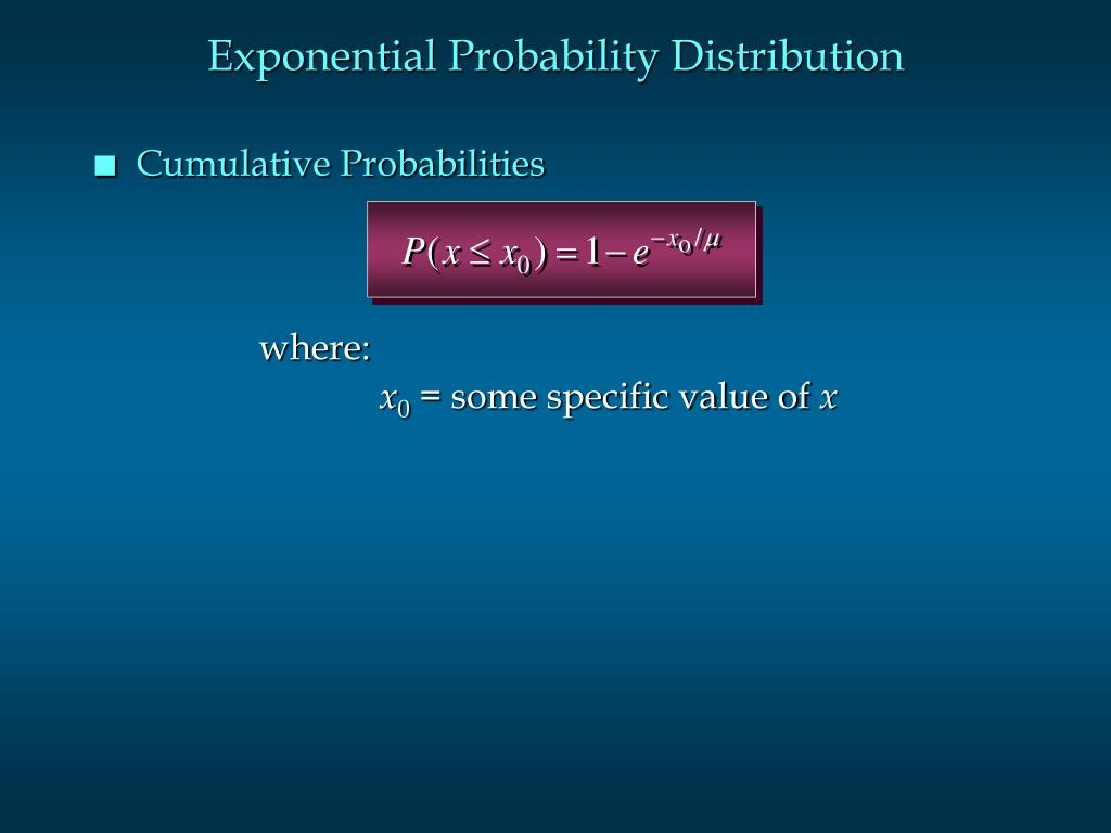 Exponential Probability Distribution