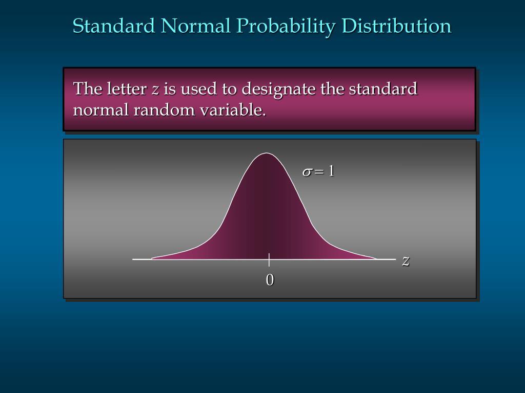 Standard Normal Probability Distribution