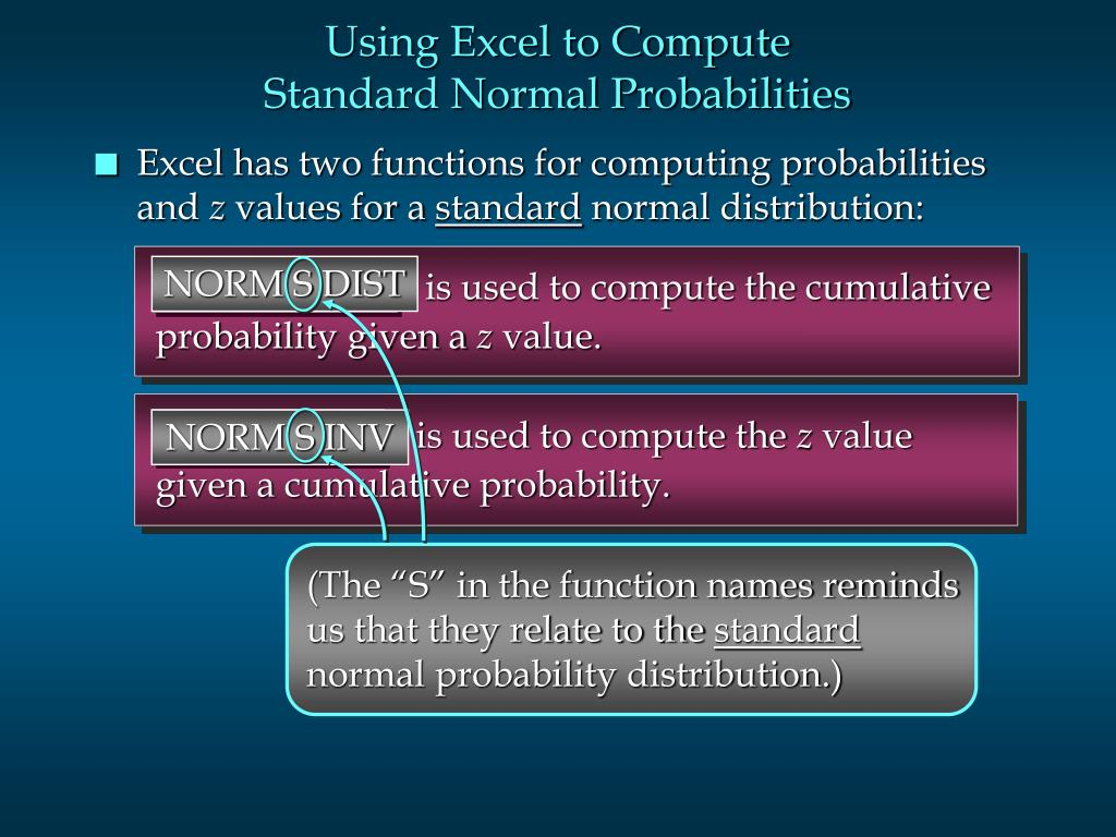 is used to compute the cumulative