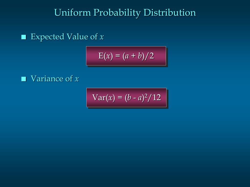Uniform Probability Distribution