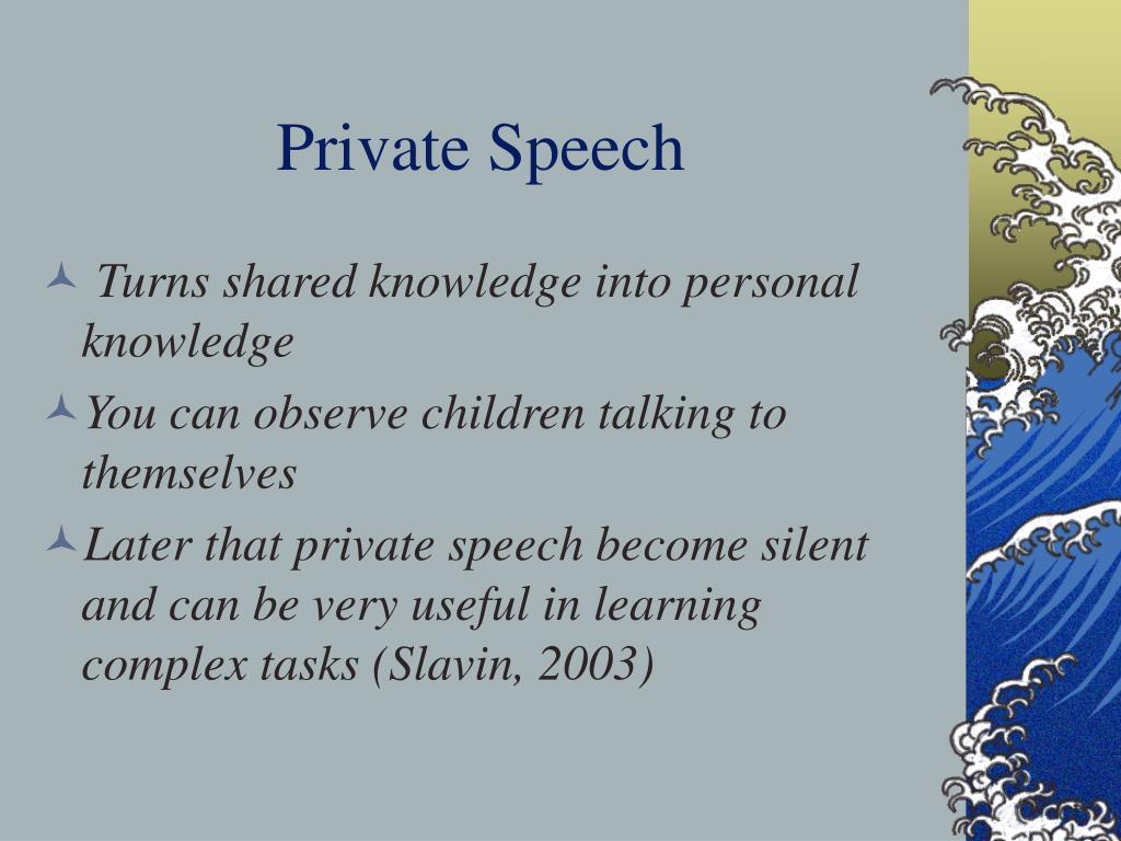 Private Speech