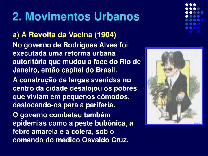 2. Movimentos Urbanos