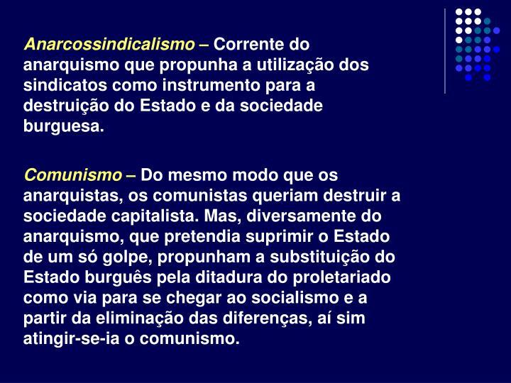 Anarcossindicalismo