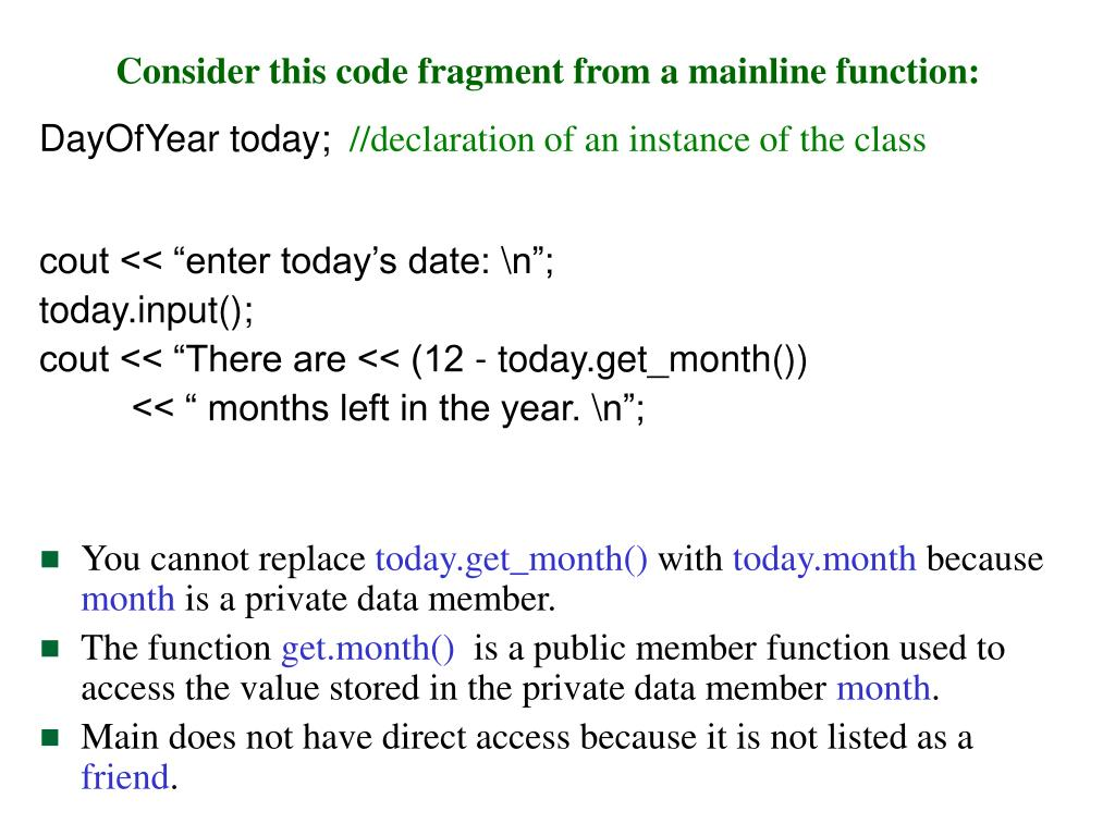 Consider this code fragment from a mainline function: