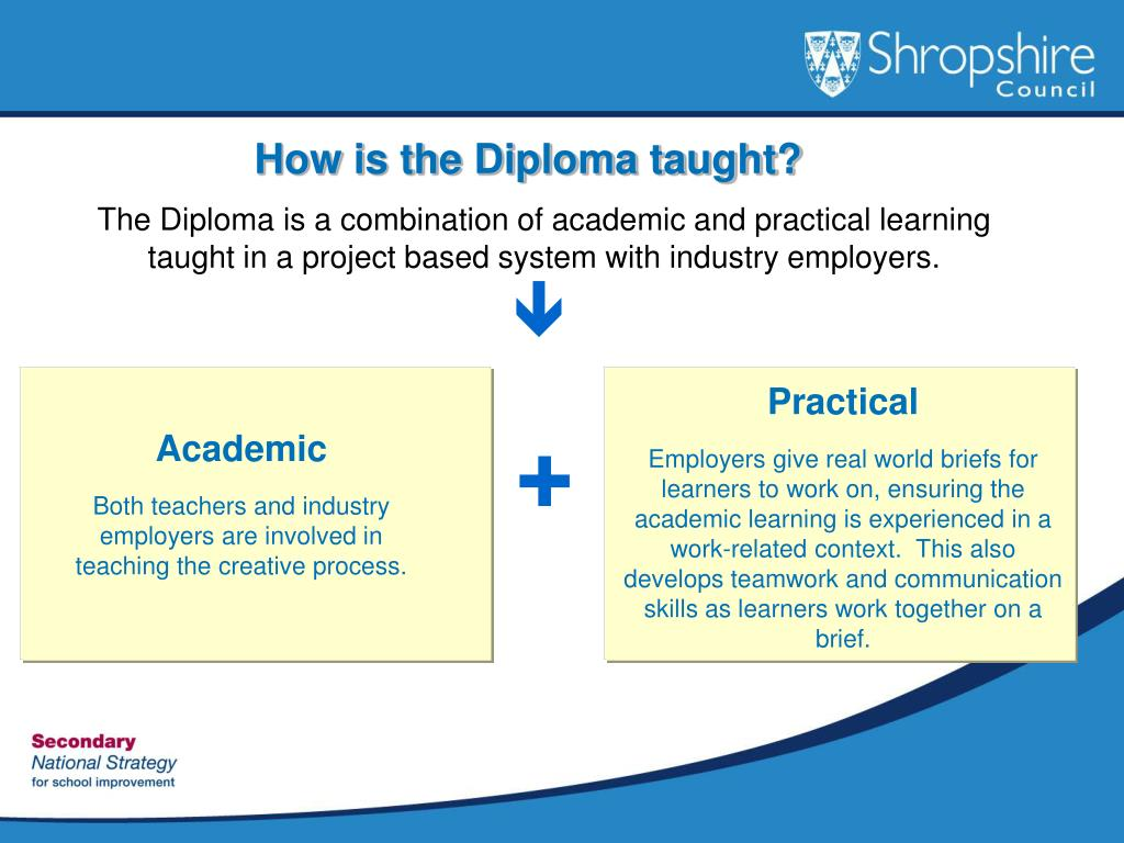 How is the Diploma taught?