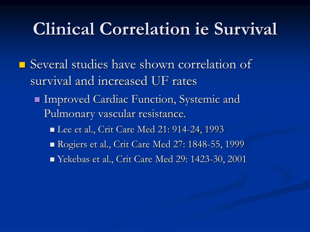 Clinical Correlation ie Survival