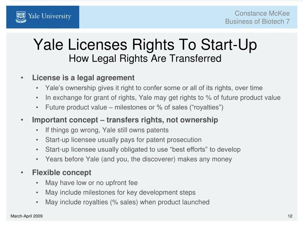 Yale Licenses Rights To Start-Up