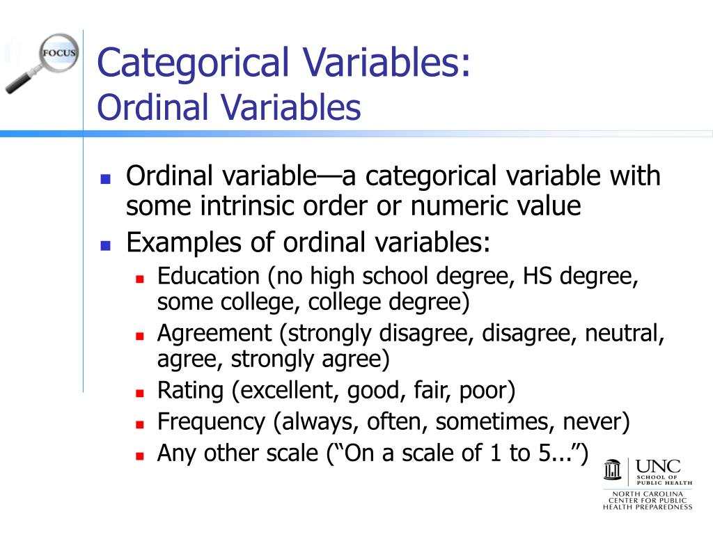 Categorical Variables: