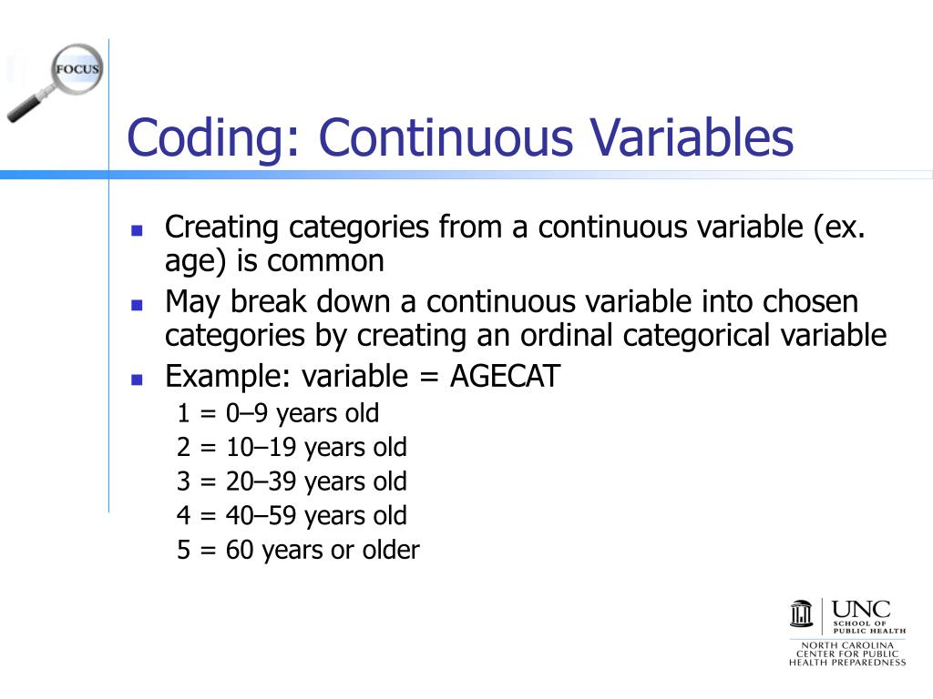 Coding: Continuous Variables