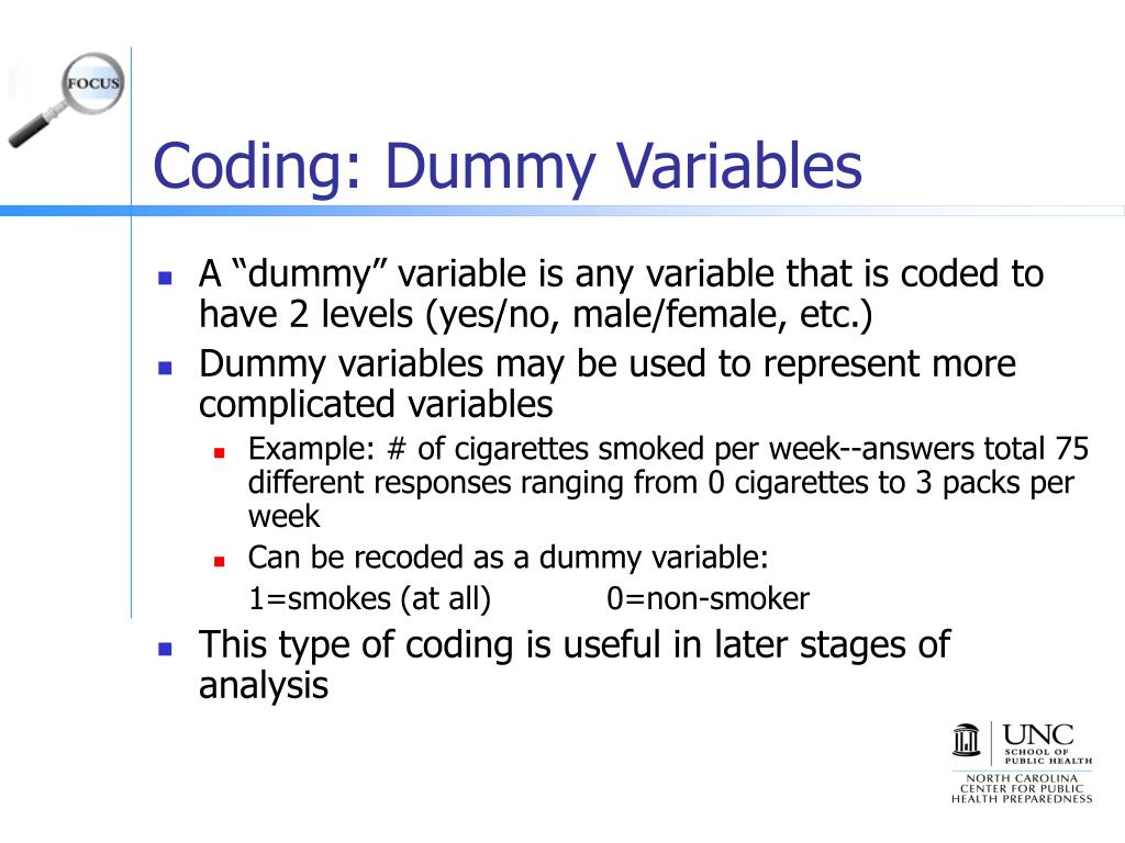 Coding: Dummy Variables