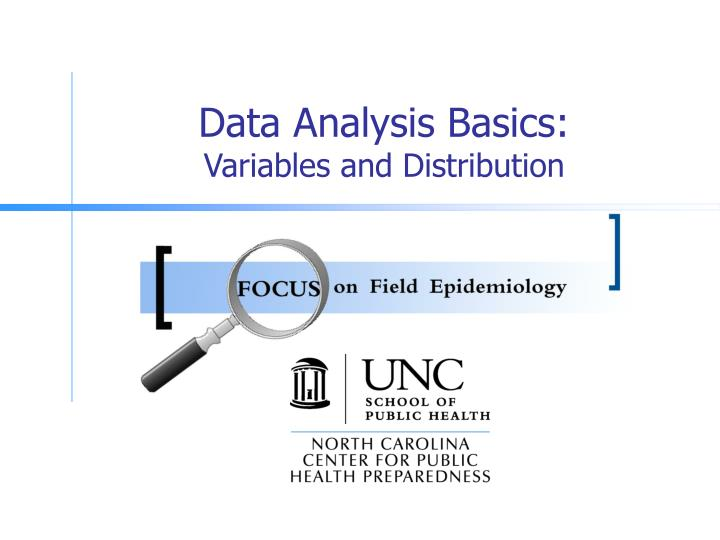 Data analysis basics variables and distribution