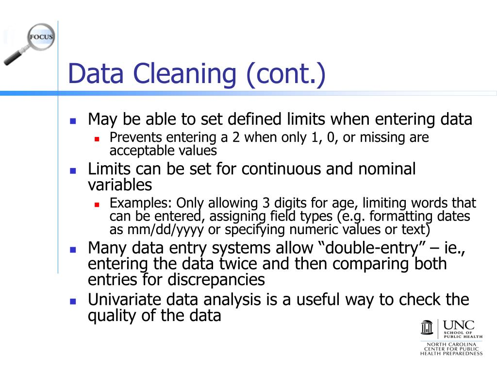 Data Cleaning (cont.)