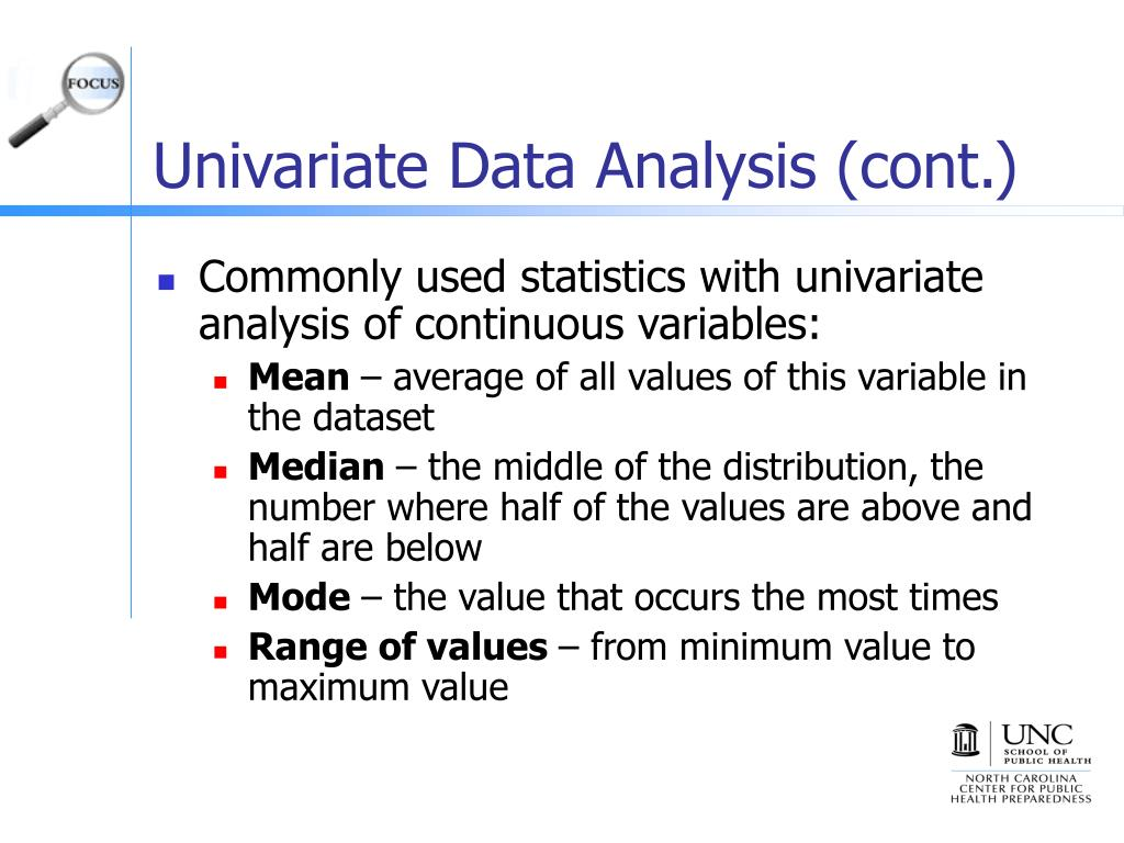 Univariate Data Analysis (cont.)