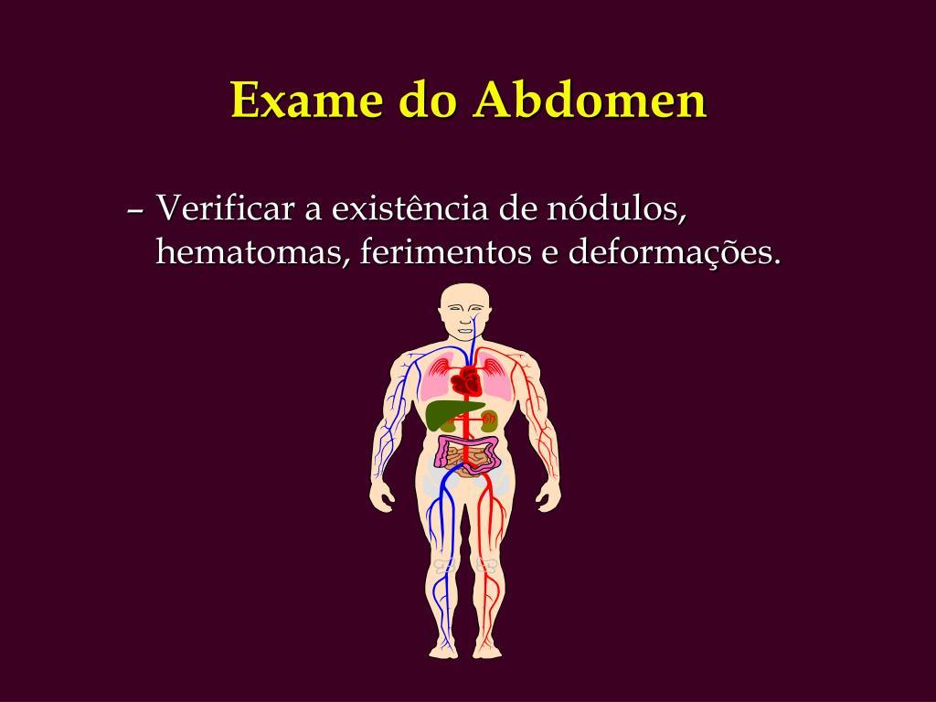 Exame do Abdomen
