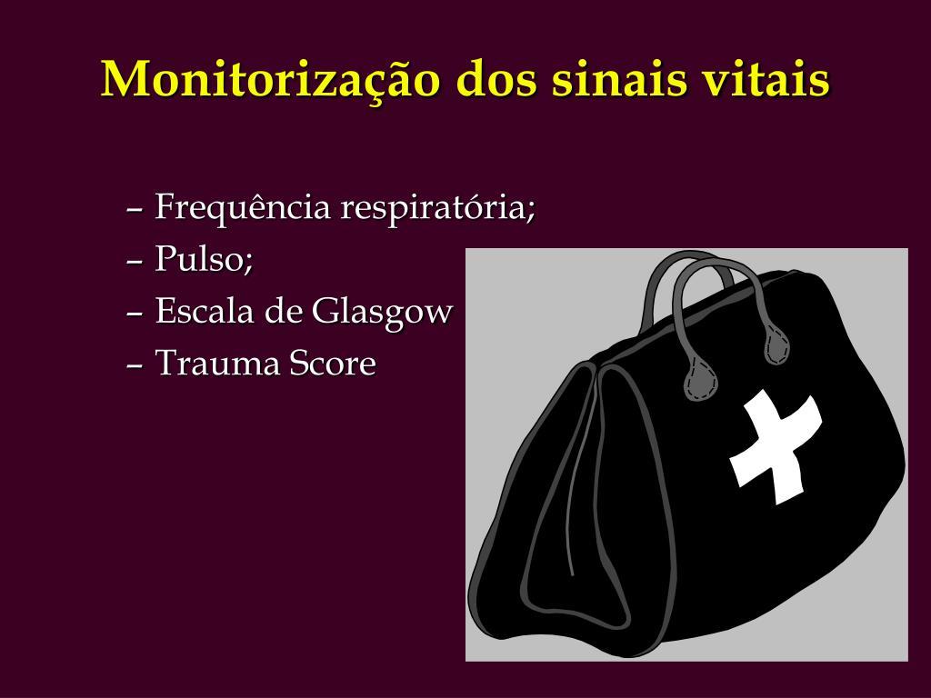 Monitorização dos sinais vitais
