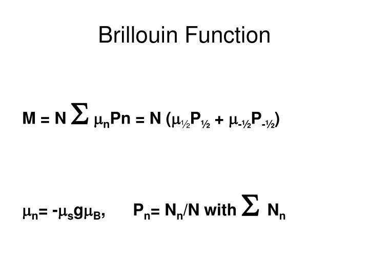 Brillouin Function