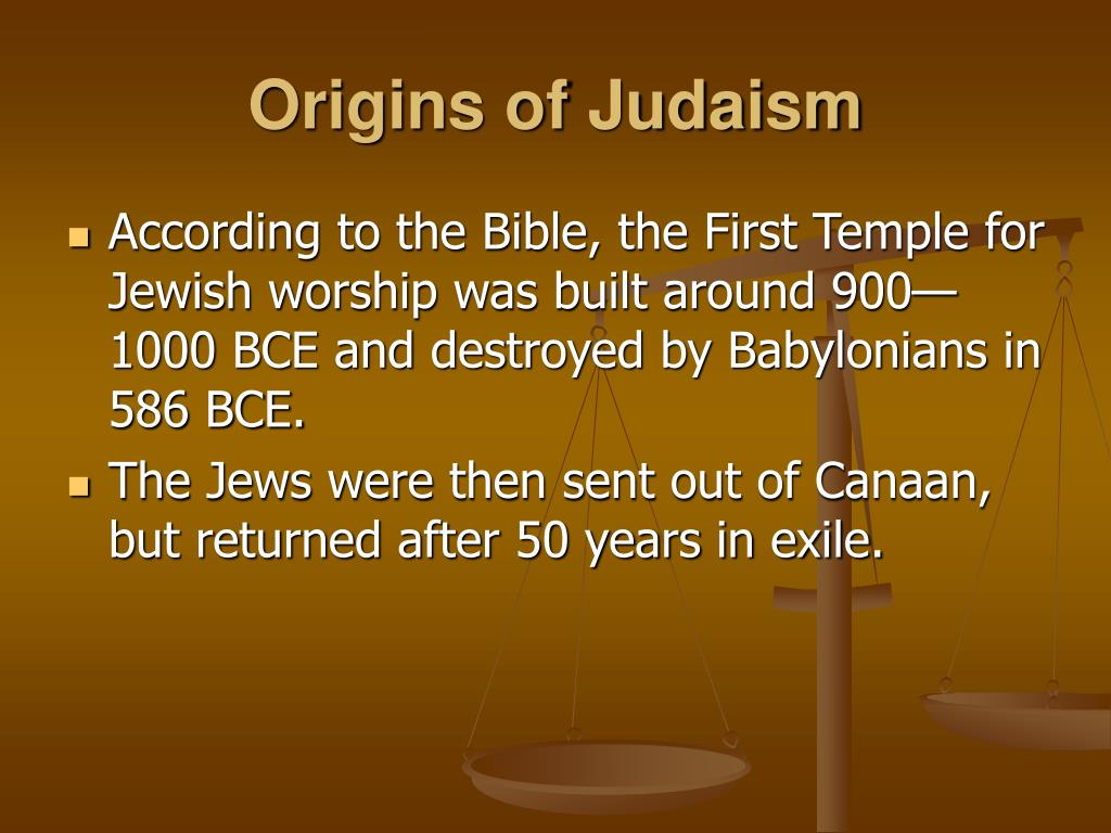 the origins of judaism Cognitive science of religion is a radically new paradigm in the study of religion  apart from psychology and anthropology of religion, also historians of religion.