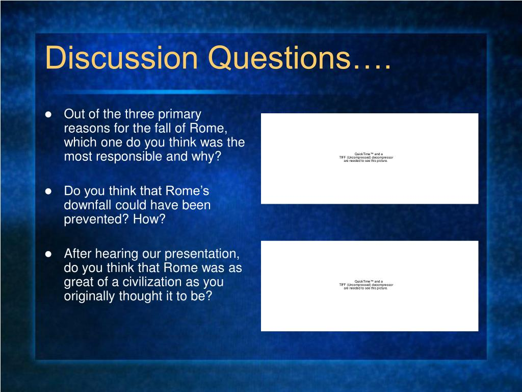 Discussion Questions….