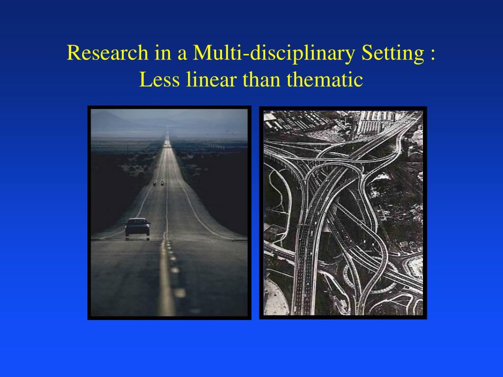 Research in a Multi-disciplinary Setting :