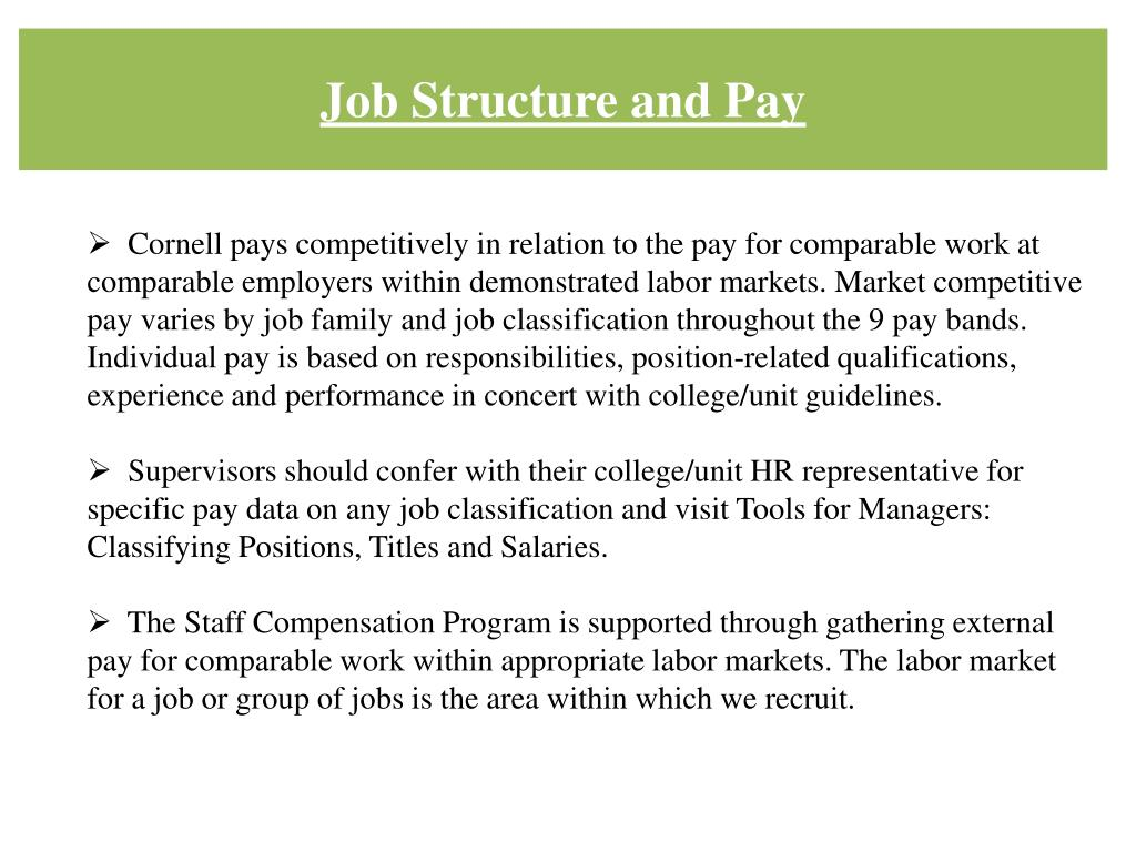 Job Structure and Pay
