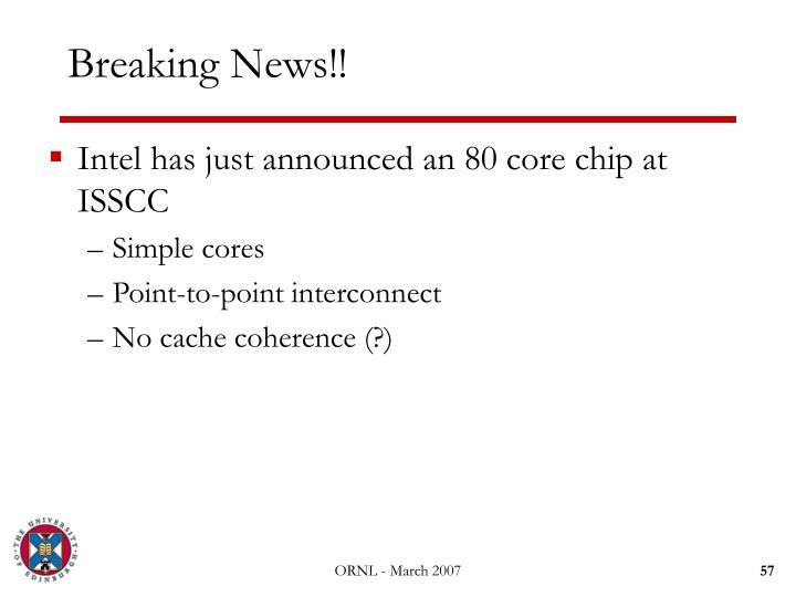 Breaking News!!