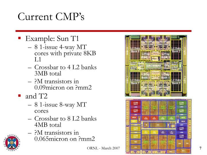 Current CMP's