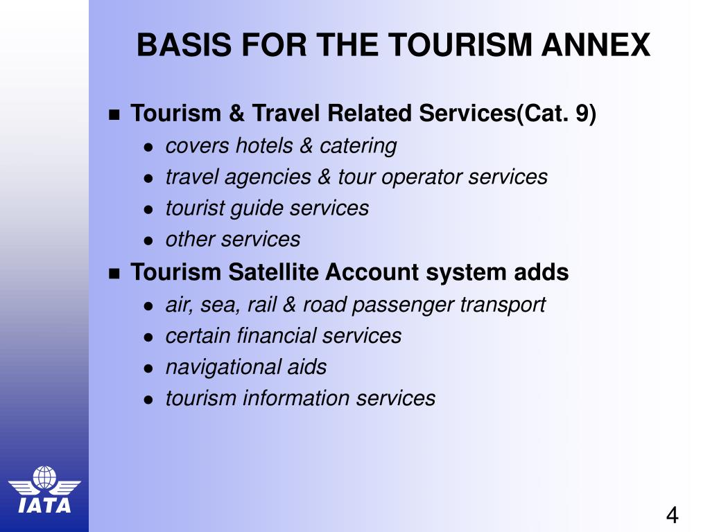 BASIS FOR THE TOURISM ANNEX