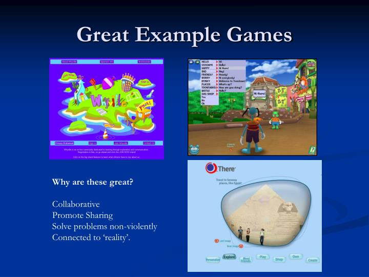 Great example games