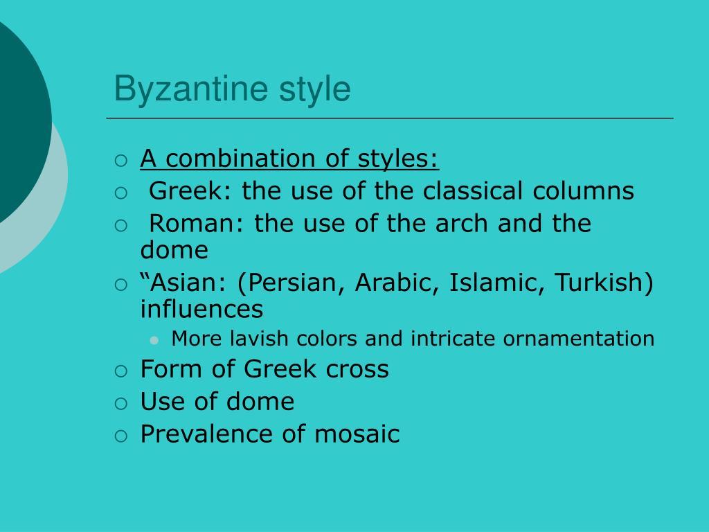 Byzantine style