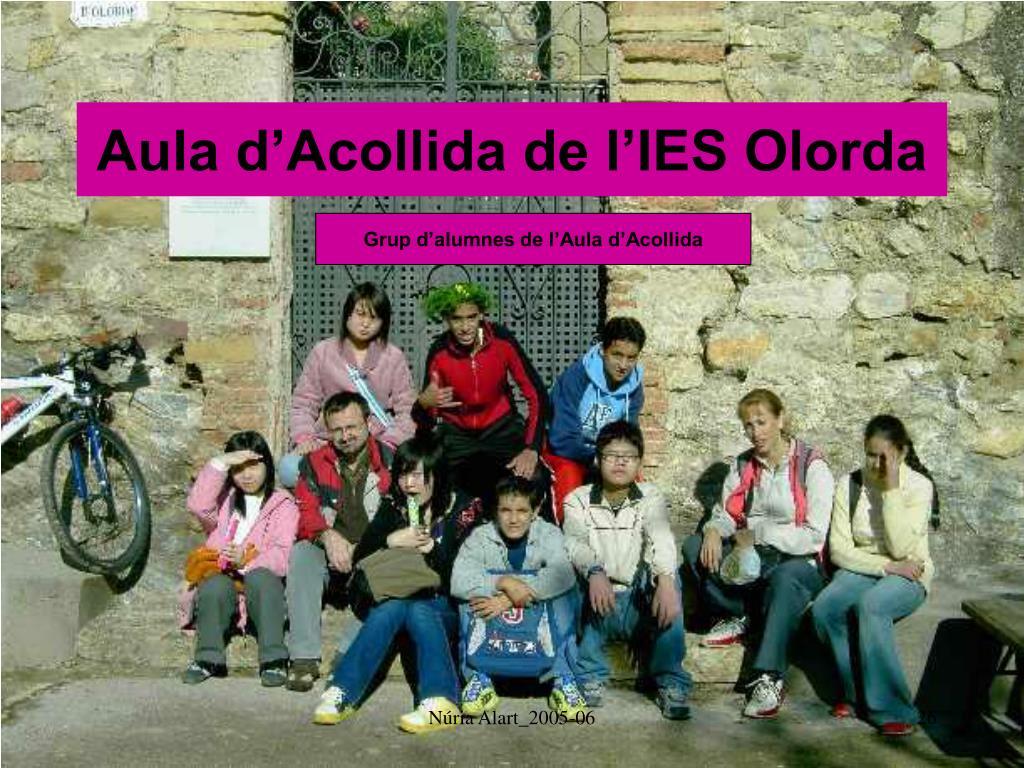 Aula d'Acollida de l'IES Olorda