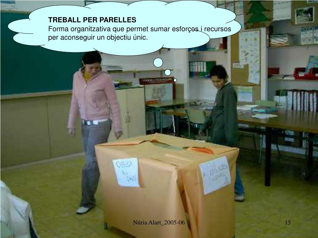TREBALL PER PARELLES