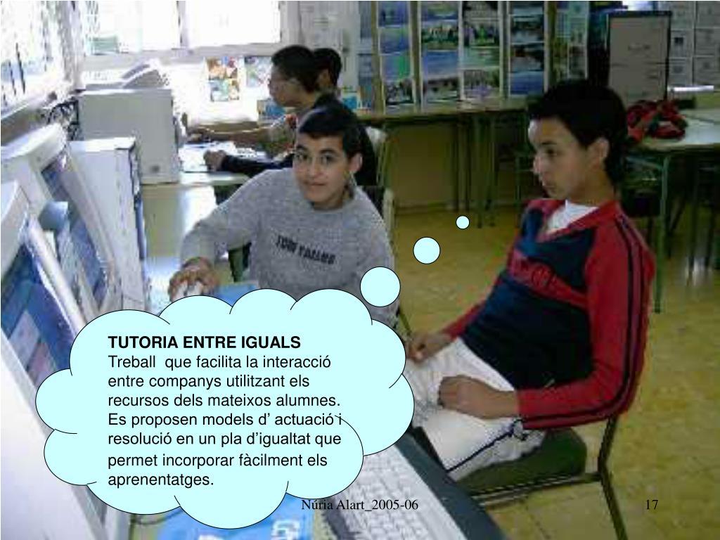 TUTORIA ENTRE IGUALS