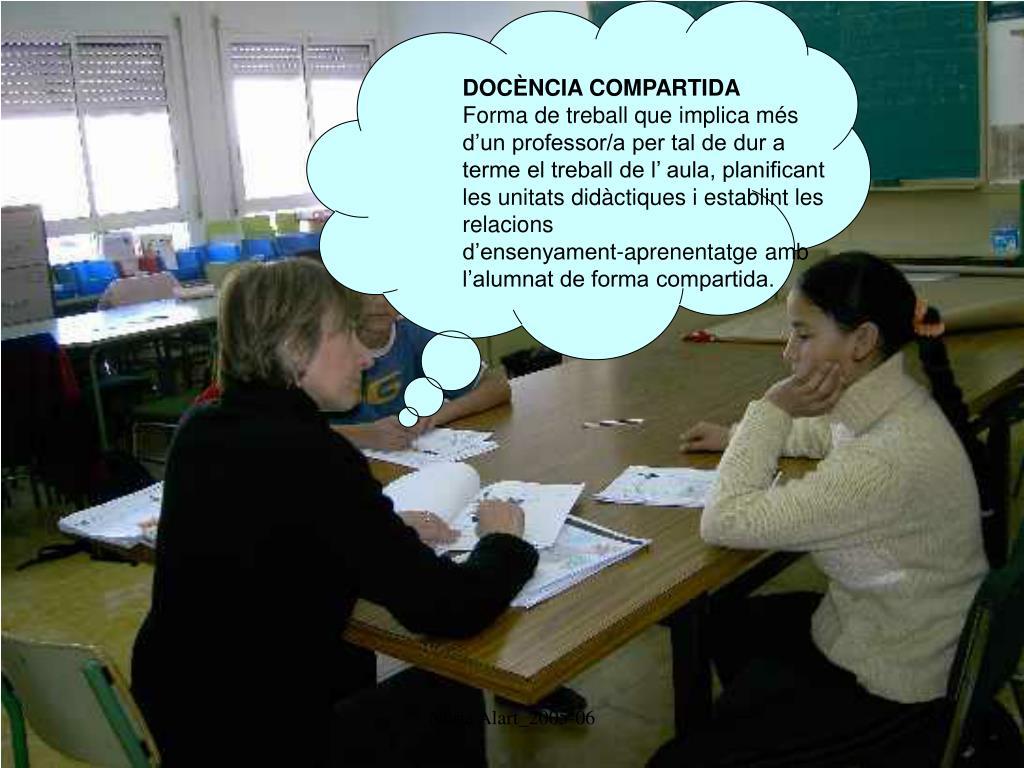 DOCÈNCIA COMPARTIDA