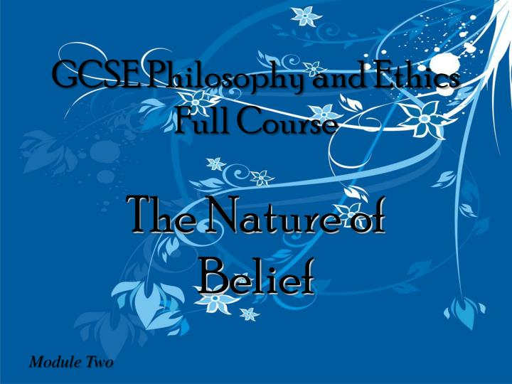 Gcse philosophy and ethics full course