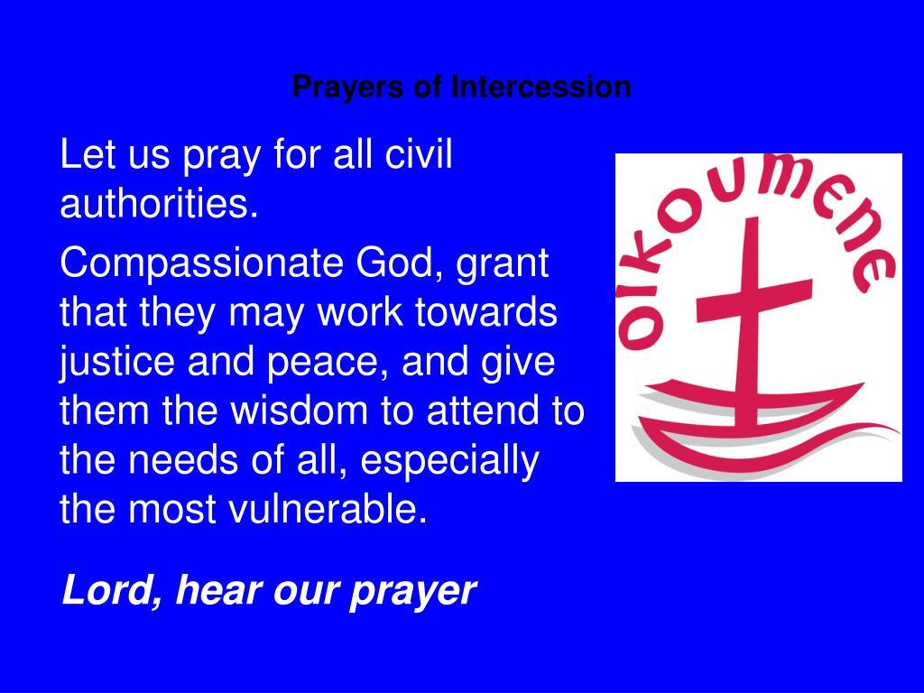 Prayers of Intercession
